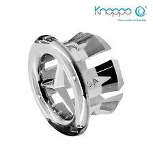 KNOPPO® SET 3 x Waschbecken Überlauflblenden / Überlauf Abdeckung - Star (chrom)