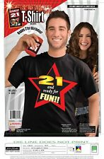 21 and Ready for Fun!!! Legally 21 Happy 21st Birthday Party Favor Gift T-Shirt