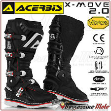 Acerbis x-move 2.0 bottes noires vibram semelle off-road moto cross quad enduro sz 41