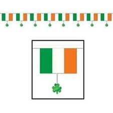 Irish Flags & Shamrocks All-Weather 12-Foot Banner St Patrick's Day Decorations