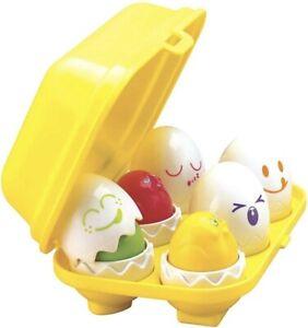 TOMY Toomies Hide N Squeak Eggs | Educational Shape Sorter Baby, Toddler & Kids