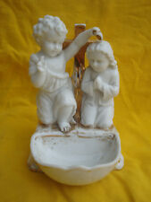 Jesuskind Kreuz , Taufe .................  aus Bisquitporzellan