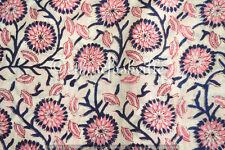 Indian Hand block Print Running Loose Cotton Fabrics Printed Decor 10 Yard New