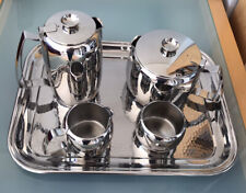 Vintage Old Hall Stainless Steel Teaset with Tray