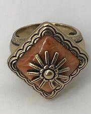 Unique, Beautiful, Artisan Style, Marked Barse, Stone, Sun Ring Size 9