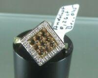 Ring Gold 375,ca.3,2 g,Andalusit & Diamant,Gr. 55/17,5,Juwelo m. Zertifikat