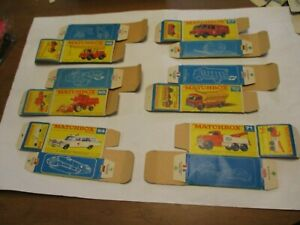 Matchbox Lesney Regular Original empty boxes Only, Lot A- F type, C9 condition