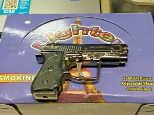 LED Gun Shaped Jet Torch Lighter Flashlight USA Stocked And Shipped