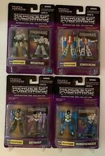 Transformers Heroes of Cybertron Decepticon four figure lot: Megatron, Skywarp +