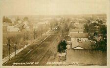 Real Photo Postcard Birdseye Street Scene in Evansport, Ohio - circa 1910