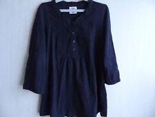 Haut gris-bleu foncé, manches 3/4, tunique, chemisier, taille 40 - L.O.G.G H&M
