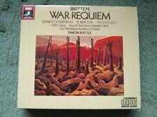 BRITTEN- War Requiem 2-CD 1983 Rattle/Robert Tear/Allen - EMI UK CDC 7 47034 2