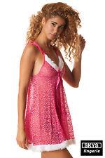 Morgan, picardías encaje color rosa Talla Única S / M Skys Lencería