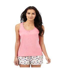 Debemhams 100% Cotton Pink Sleep Vest - BNWT