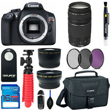 Canon EOS Rebel T6 (Body) + 75-300mm Lens + Basic Accessory Bundle