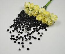Black - Acrylic Diamond Scatter Crystals - Wedding Decoration Table Crystals