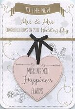 TO THE NEW MRS & MRS CONGRATULATIONS ON YOUR WEDDING DAY GREETING CARD 1STP&P