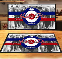 Personalised with any name Italian Flag Restaurant bar runner mat Bars Clubs