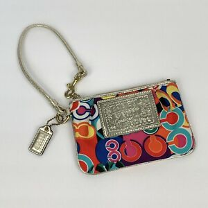 Coach poppy colorfull And Gold Small Wristlet
