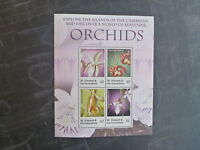 2007 St VINCENT & THE GRENADINES DISCOVER ORCHIDS 4 STAMP MINI SHEET MNH