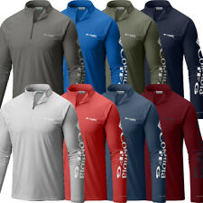 "New Mens Columbia PFG ""Terminal Tackle"" 1/4 Zip Omni-Wick T-Shirt Top Tee Polo"