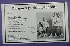 Lucas de tennis Sport Equipment - 1980 S Original MAGAZINE PUB