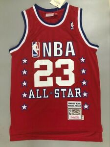 NEW MEN'S Michael Jordan 1989 All Star NBA Jersey Red Size S-XXL