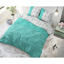 HOUSSE DE  COUETTE GINO TURQUOISE  240X220 CM