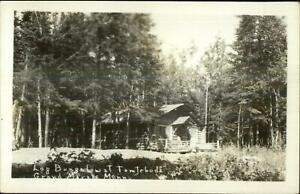 Grand Marais MN Log Cabin Tom Jeboda Real Photo Postcard