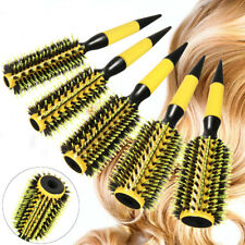 5 Size Bristle Round Brush Hair Hairdressing Salon Tool Natural Wood Roller Comb