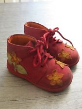Chaussures DPAM fille nubuck rouge Pointure 20 TBE