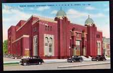 PEORIA ILLINOIS IL Shrine Mosque Mohammed Temple AAONMS Old Cars Old Postcard PC