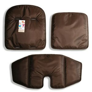 The dark brown cushions for high chair for feeding OXO Tot Sprout