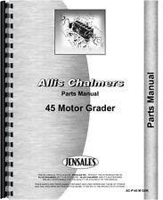 Allis Chalmers 45 Motor Grader Parts Manual (SN# 0-1780)