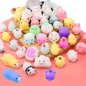 50PCS Cute Animal Squishies Kawaii Mochi Squeeze Toys Stretch Stress Squishy AU