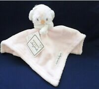 Blankets and Beyond Pink & White Penguin W/ Ear Muffs Baby Security Blanket NWT