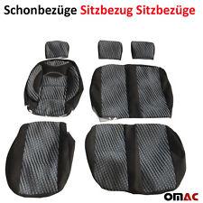 ZEBRA Schonbezüge Sitzbezug (schwarz-grau) VW T4 / LT / T5 / T6 CRAFTER 2+1