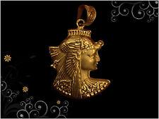 Egyptian HallMark 18 Karat Gold pendant, Fascinating Pharao's Queen Cleopatra