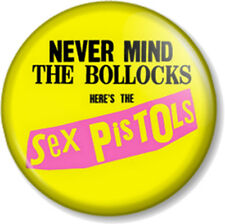 Sex Pistols 25mm Pin Button Badge Never Mind the Bollocks Here's The Album Cover