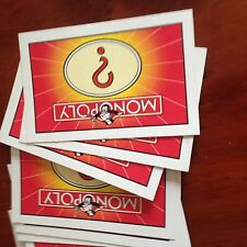Monopoly Game Complete Set Of 'Chance' Cards. Genuine Waddingtons Parts.
