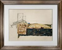 "Egon SCHIELE Ltd. Ed. SIGNED ""The Bridge"" 1913 w/ FRAMING"