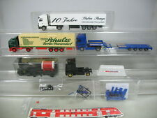Ab300-1# 5x Wiking h0 camiones: mercedes Runge + Usinger, volvo Schulze, renault etc