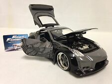 Fast Furious DK'S Nissan 350Z , Collectible 1: 24 Diecast Jada Toy, Gray