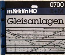 MÄRKLIN H0 Gleisanlagen GleisbauRatgeber Gleispläne 0700 K/M Gleis Geometrie '91