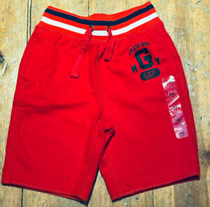 NWT Gap Kids Boys red athletic Terry Fleece shorts Pull-on XS 4/5 4T 5T