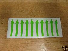 Flechas Direccionales-Rueda Calcomanías / Stickers-Set De 10-Verde