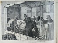 HARPER'S WEEKLY Garfield Assassination, Taken To Elberton NJ Sept 17, 1881