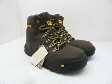 CATERPILLAR CAT Men's Outline STSP Leather Work Boots Brown 8.5W