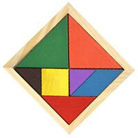 TANGRAM COLORE EN BOIS 11*11CM 7 PIECES - PUZZLE BOIS EDUCATIF LOGIQUE