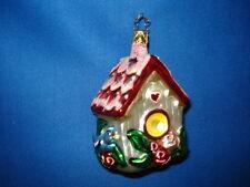 Bird House Ornament Bluebird German Glass Old World Christmas 01647 8